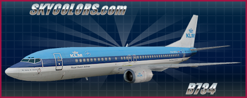 AI Aardvark (AIA) 737-400 KLM PH-BTG (old colors)