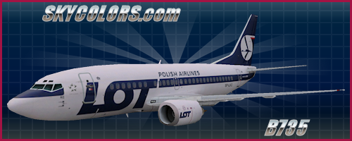 AI Aardvark (AIA) 737-500 LOT Polish Airlines SP-LKC