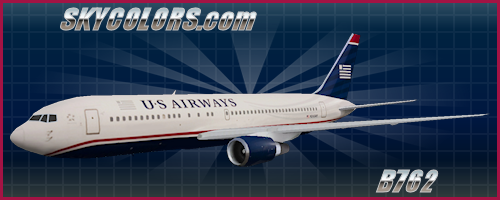 AI Aardvark (AIA) 767-200 US Airways N245AY
