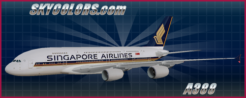 AI traffic repaint: Singapore Airlines A380-800