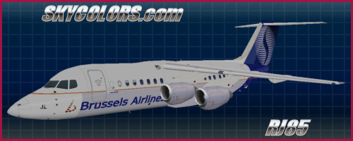 AI traffic repaint: Brussels Airlines Hybrid RJ-85