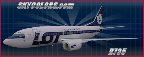 FSX aircraft repaint: LOT Polish Airlines 737-500